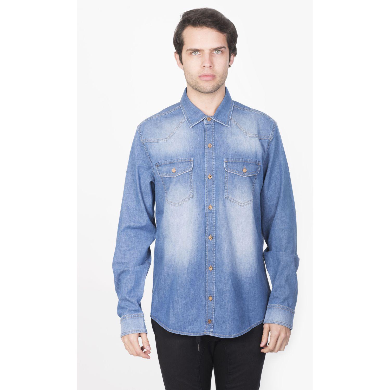 ROCK & RELIGION KARIM LIGHT BLUE Camisas de botones