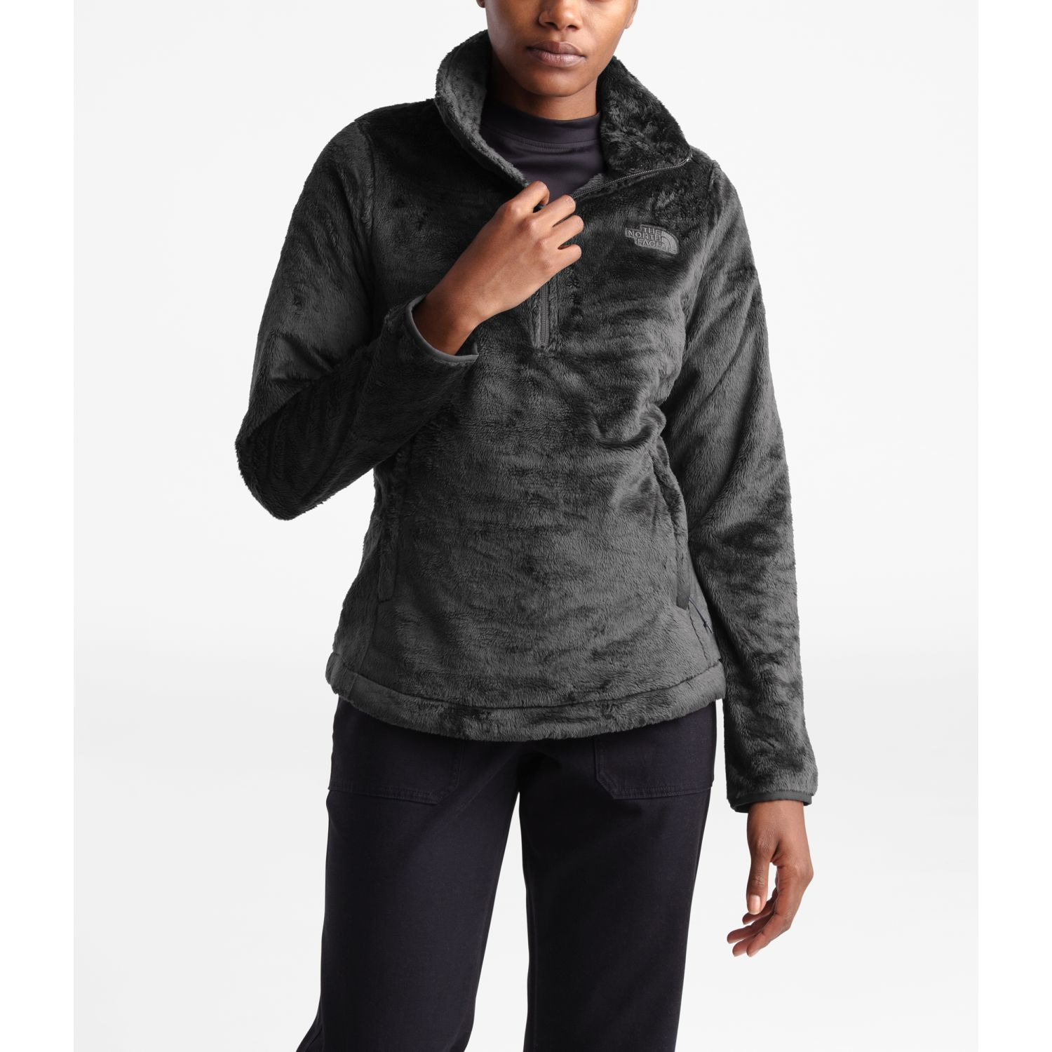 The North Face W OSITO 1/4 ZIP P/O Gris Pullovers