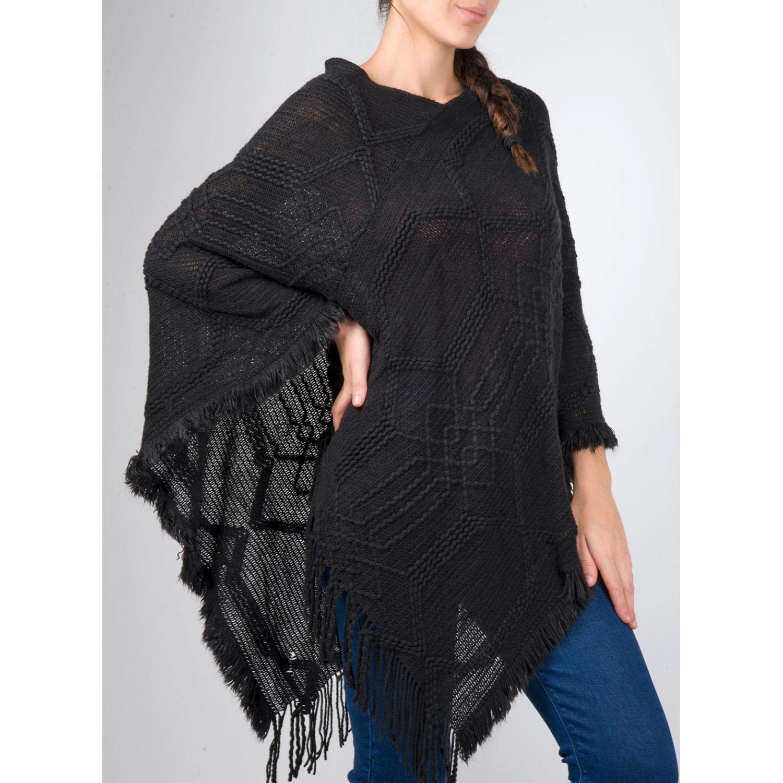 SISI PONCHO BASIC Negro Bufandas Fashion