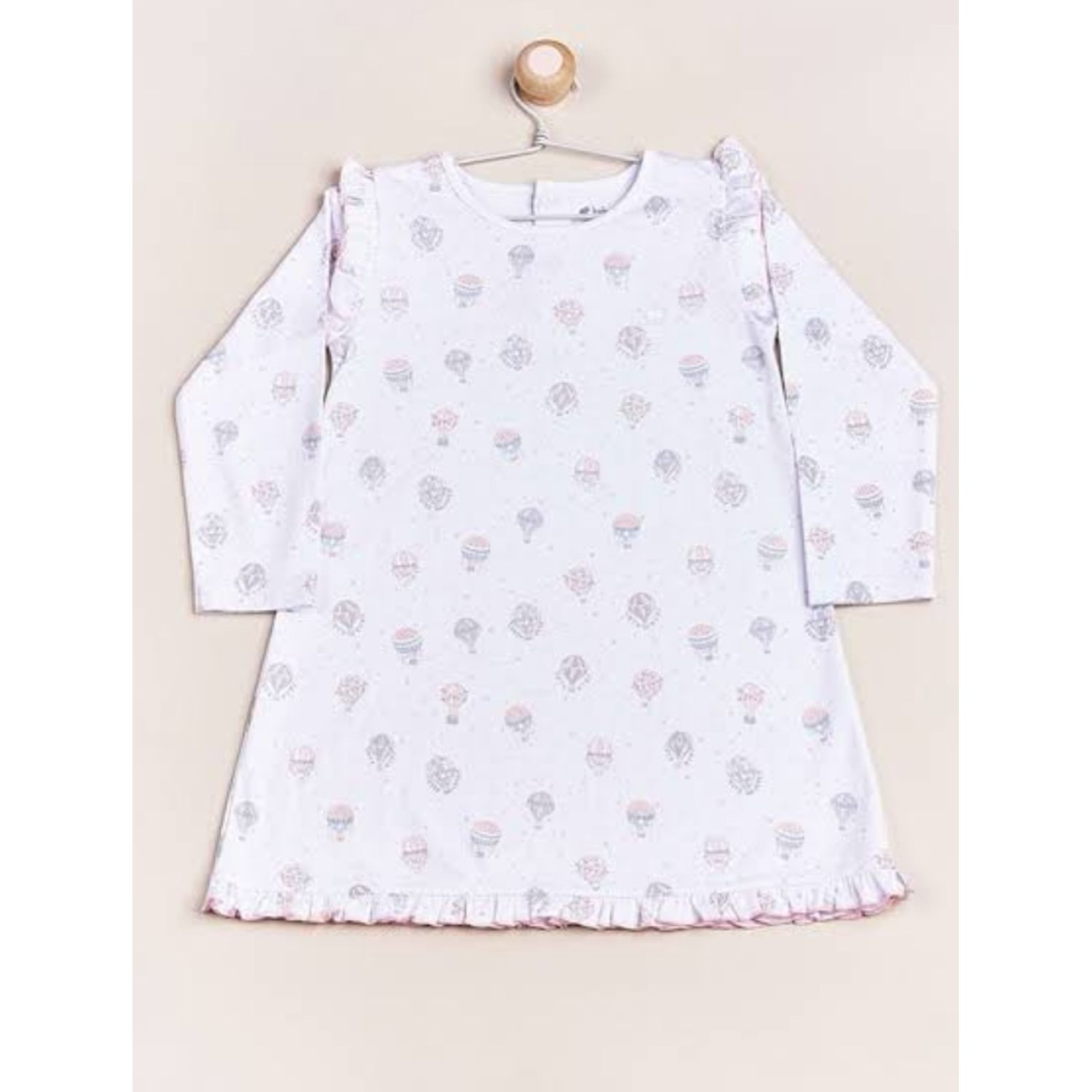 Babycottons Camison Look At The Sky Rosado Camisones