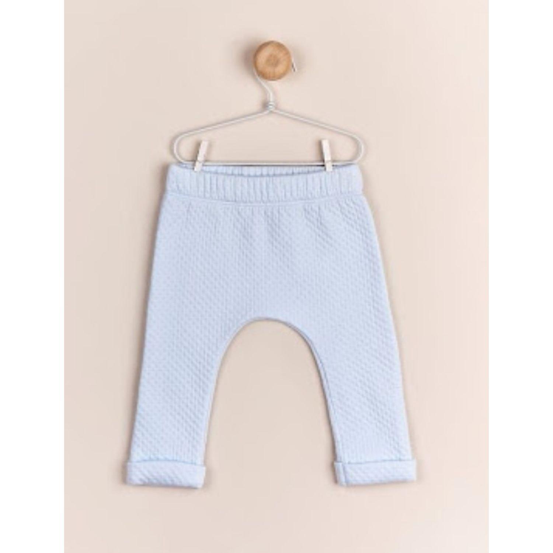 Babycottons Pantalon Matelasse Colette Str Celeste Pantalones