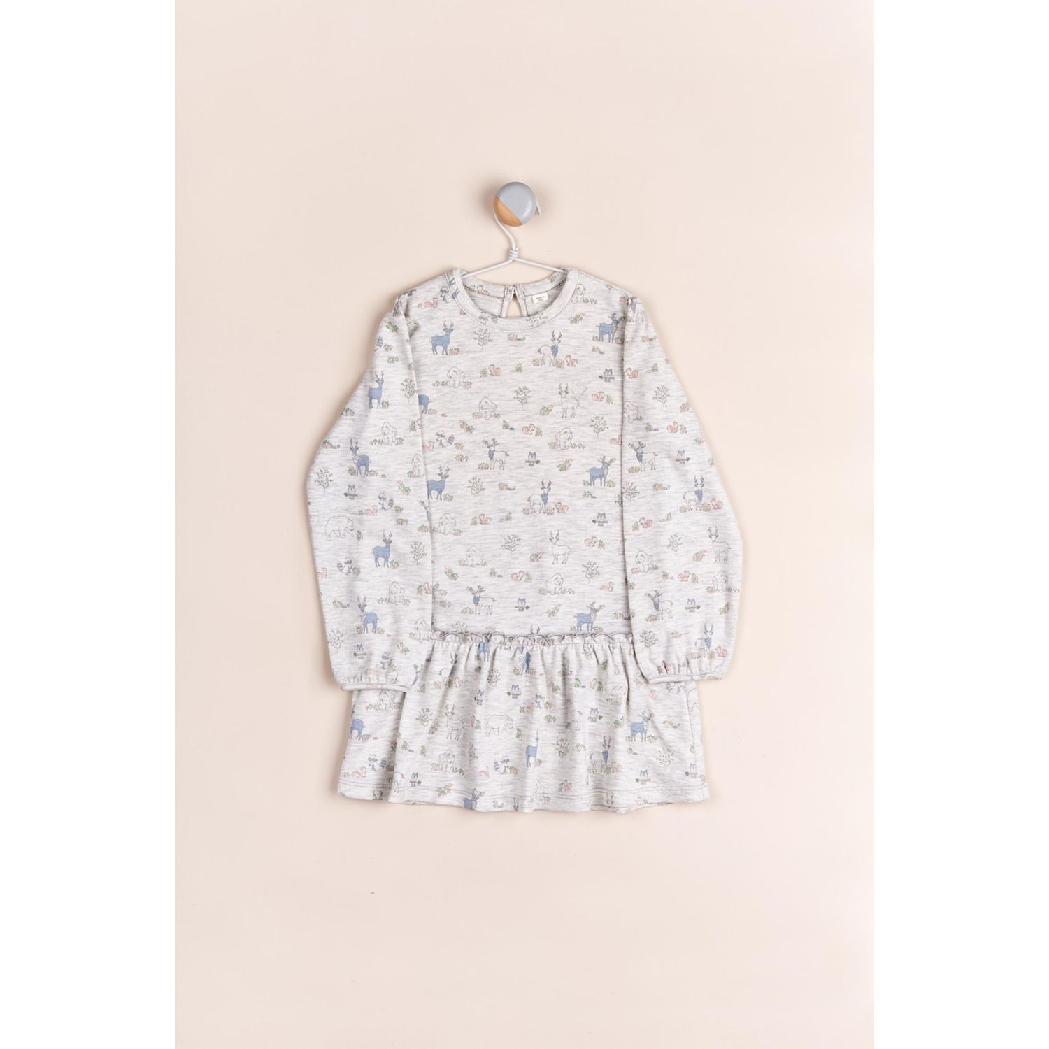 Babycottons Vestido Magical Forest Gris Casual