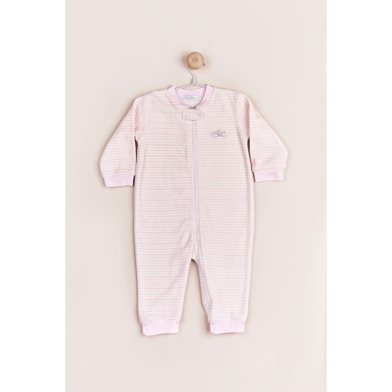 Babycottons Pijama My Friendly Bear Rayas Rosado Body