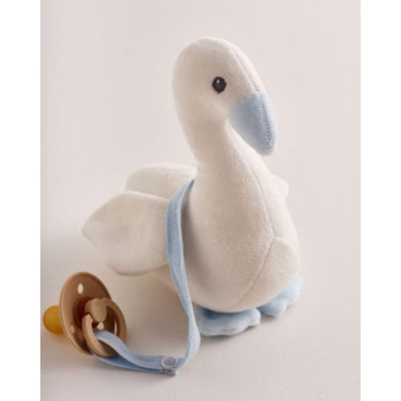 Babycottons Swan Boy Celeste Los juguetes de peluche interactivo