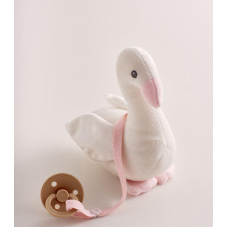 Babycottons Swan Girl Rosado Los juguetes de peluche interactivo