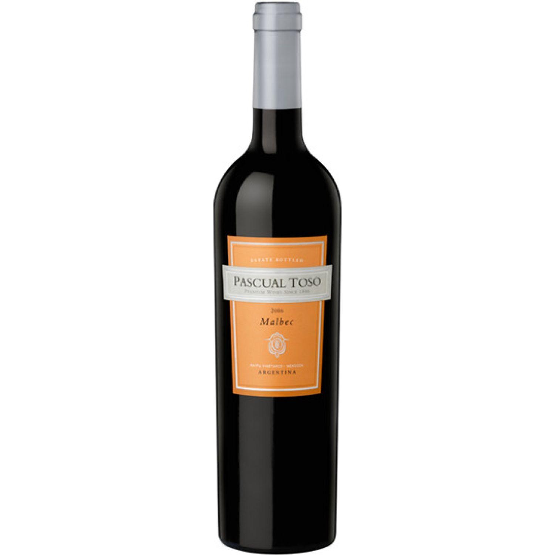 PASCUAL TOSO Vino Estate Malbec X 750ml Sin color Vino Tinto