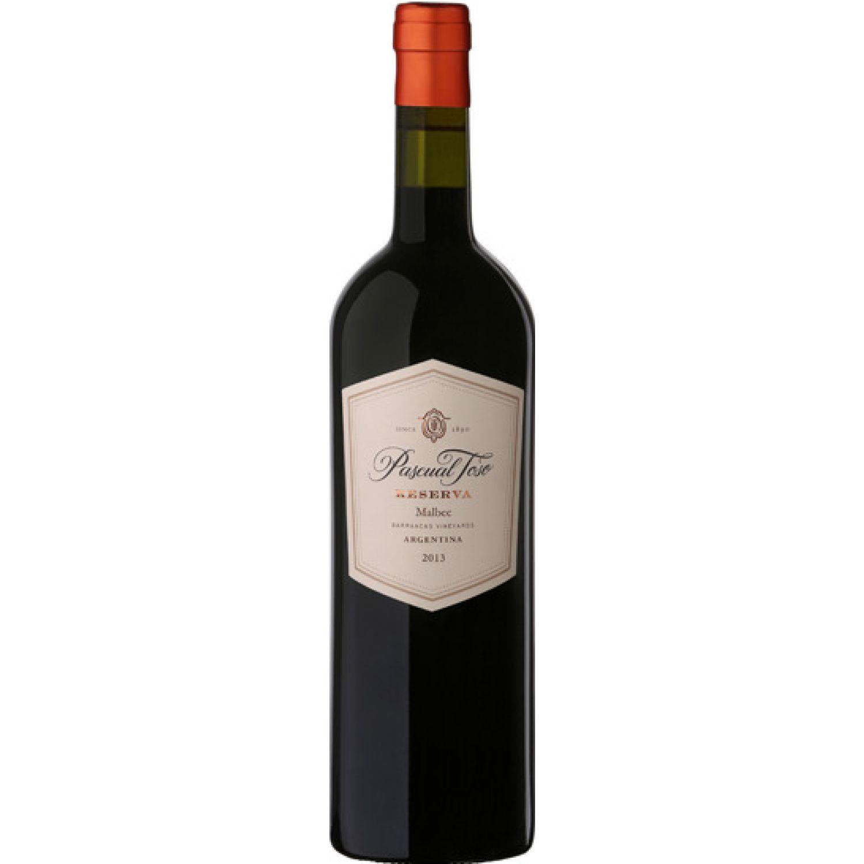 PASCUAL TOSO VINO RESERVA MALBEC X 750ML Sin color Vino Tinto