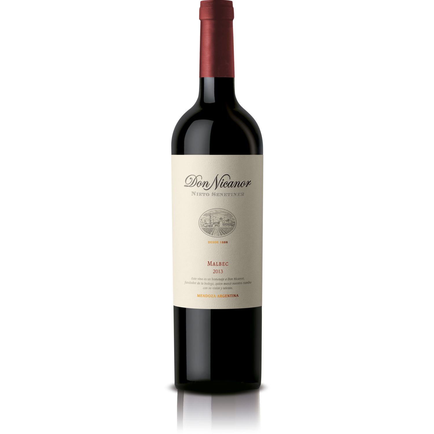 NIETO SENETINER VINO DON NICANOR MALBEC X 750ML Sin color Vino Tinto