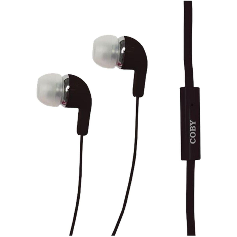 COBY Audífono In Ear, Con Micrófono Negro Auriculares en la oreja