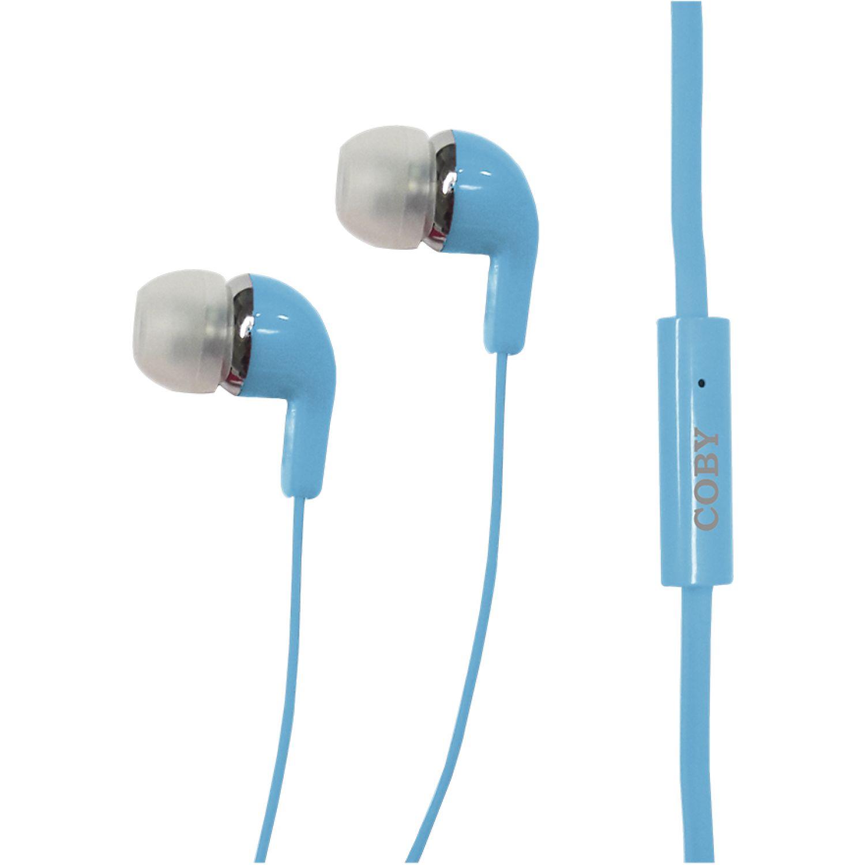 COBY Audífono In Ear, con micrófono Azul Auriculares en la oreja