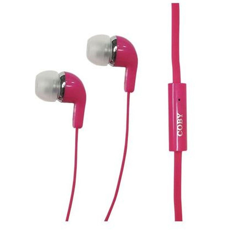 COBY audífono in ear, con micrófono Rosado Auriculares en la oreja