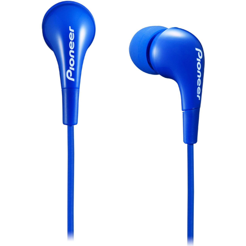 PIONEER Audífono Cable 1.2m 3 Gomas Intercambi Azul Auriculares en la oreja