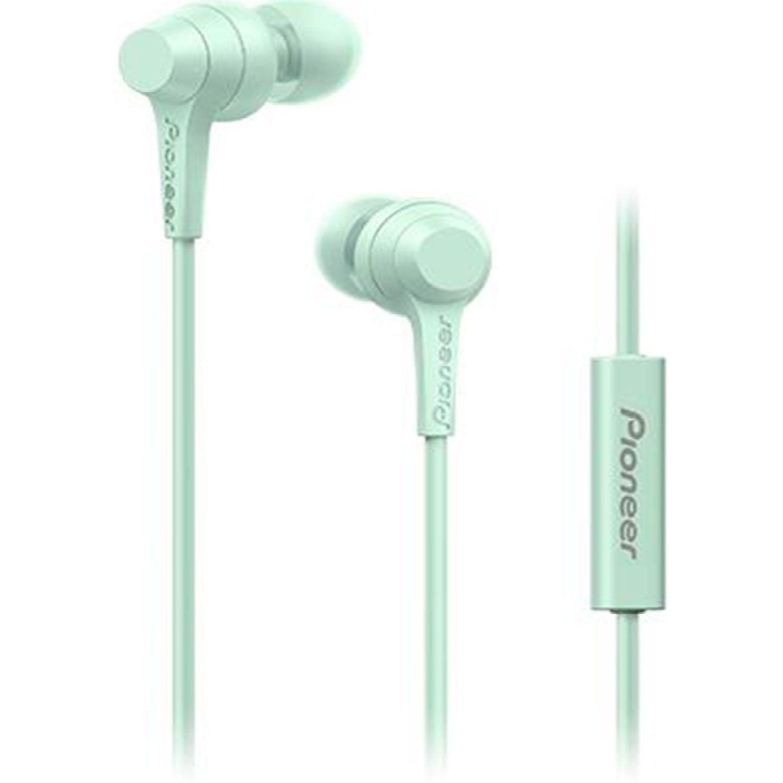PIONEER Audífono Con Micrófono Verde Auriculares en la oreja