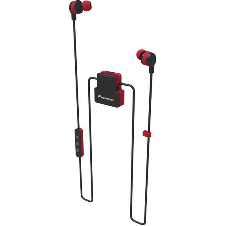 PIONEER Audífono Deportivo Bluetooth Rojo Auriculares en la oreja
