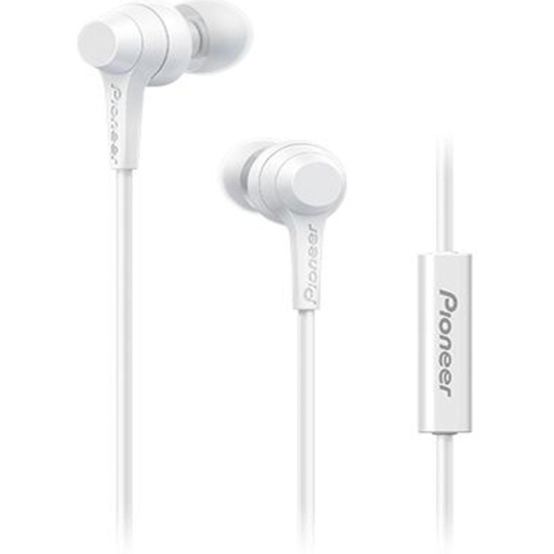PIONEER Audífono Con Micrófono Blanco Auriculares en la oreja