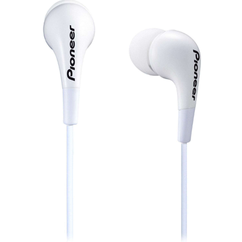 PIONEER Audífono cable 1.2m 3 gomas intercambi Blanco Auriculares en la oreja