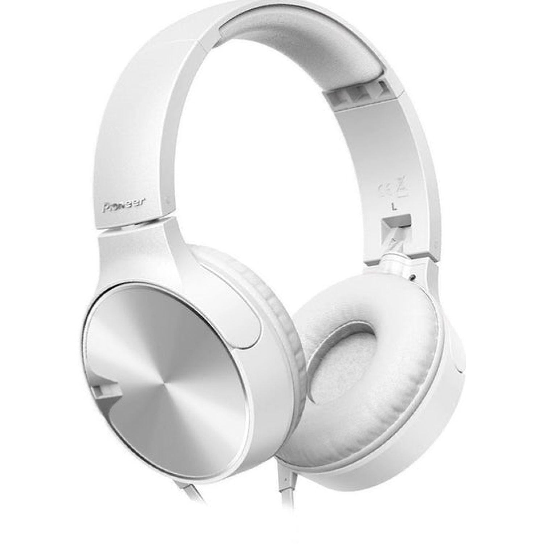 PIONEER Audífono Tipo Dj Con Microfono Blanco Auriculares en la oreja