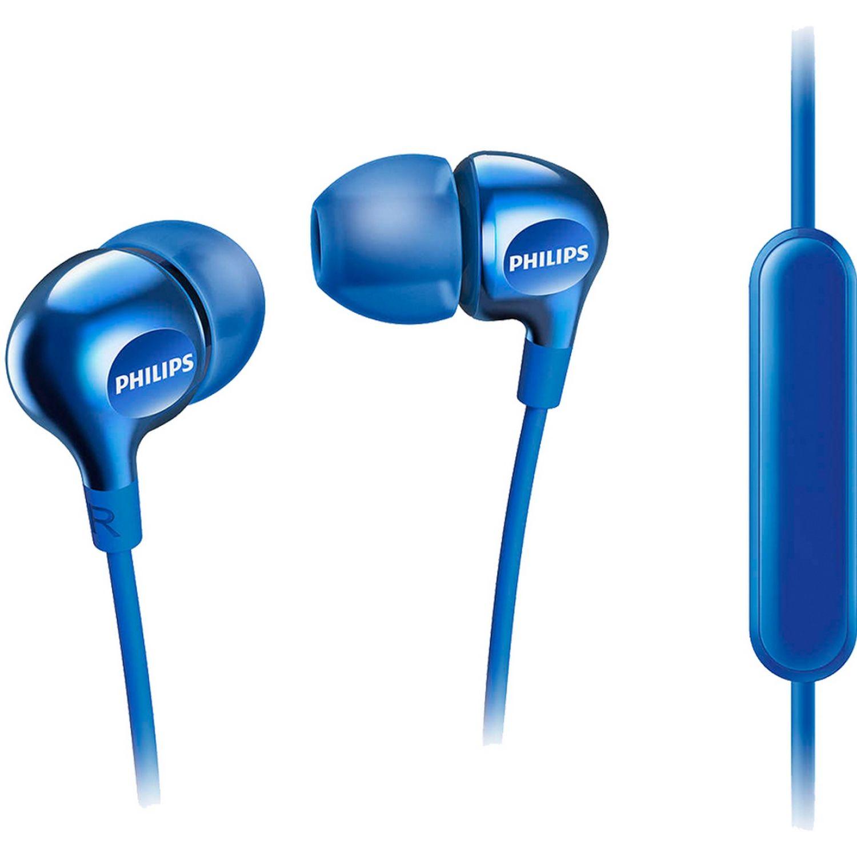 Philips Audífono Con Micrófono Azul Auriculares en la oreja