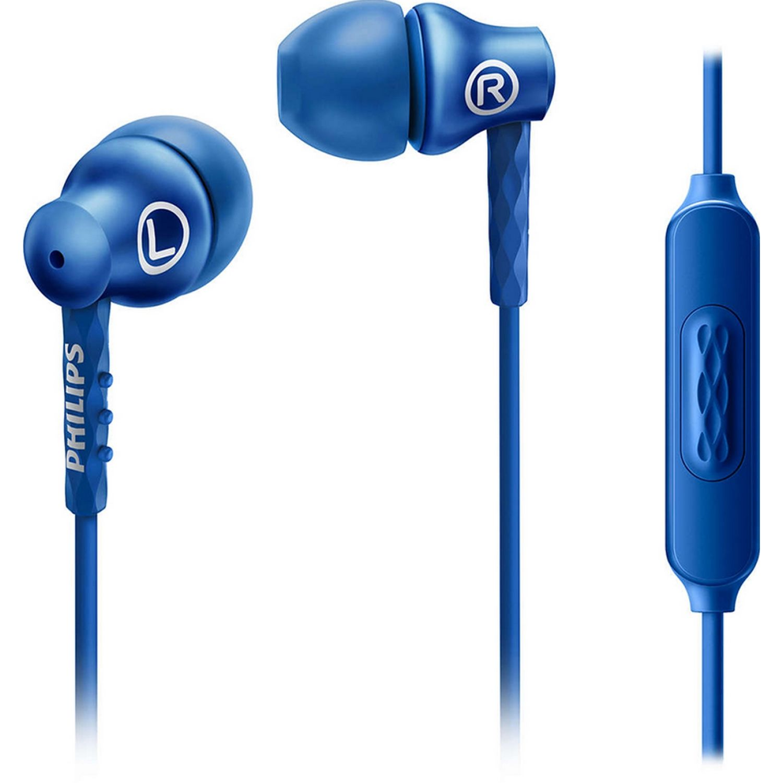 Philips Audífono Con Micrófono, Aluminio Azul Auriculares en la oreja