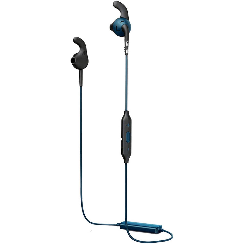 Philips Audífono Deportivo Bluetooth Azul / negro Auriculares en la oreja