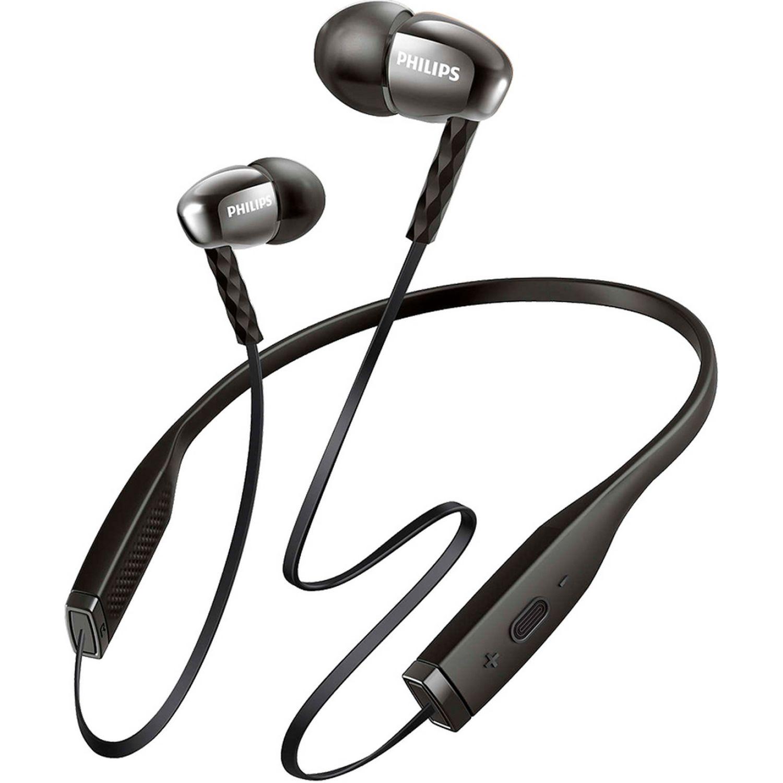 Philips Audífono Bluetooth de nuca c/micrófono Negro Auriculares en la oreja