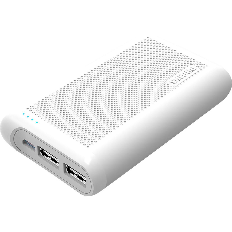 Philips Powerbank 6600mAh 02puerto med d/carga Blanco Paquetes de baterías externas