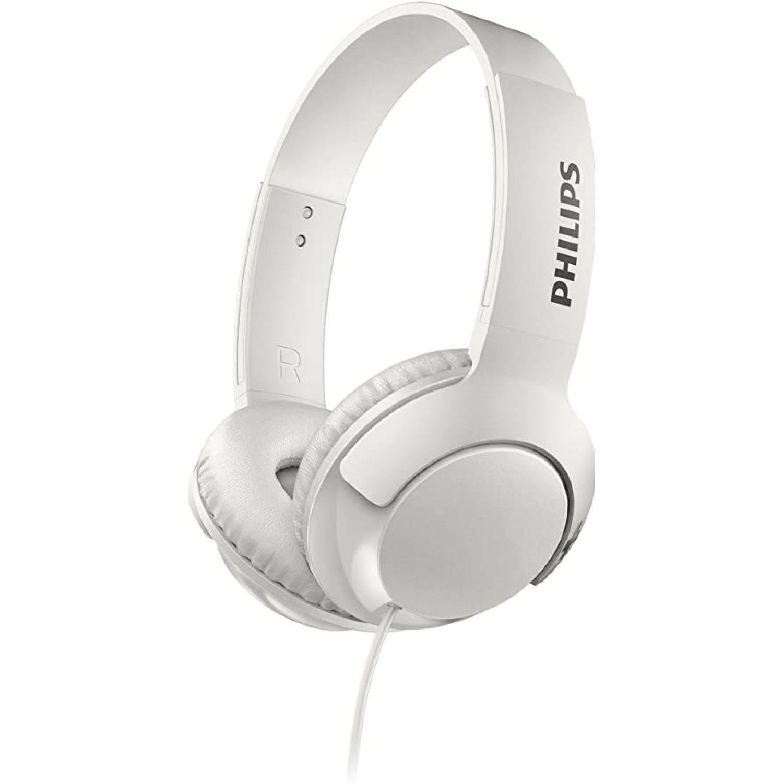 Philips audífono tipo dj super bass Blanco Auriculares en la oreja