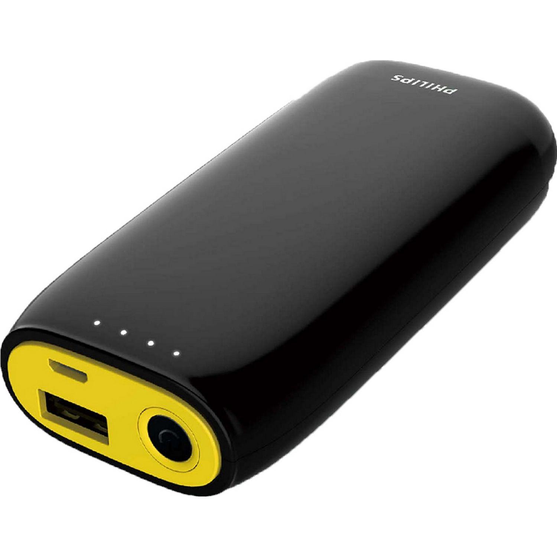 Philips Powerbank 4000mAh 01puerto med d/carga Negro / amarillo Paquetes de baterías externas