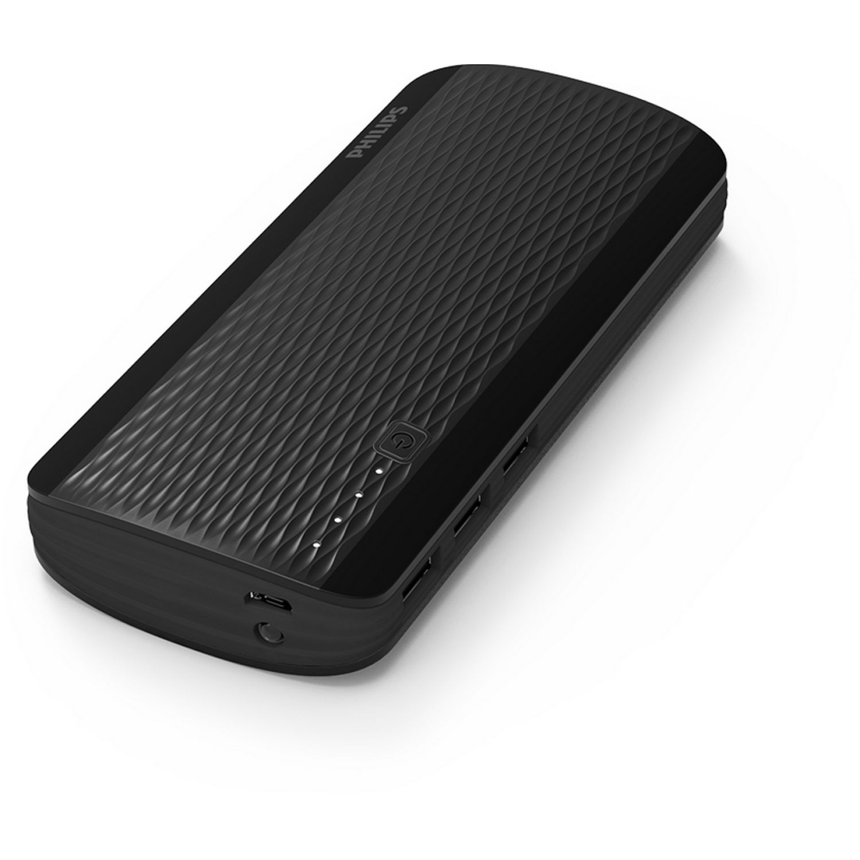Philips Powerbank 13,000 mAh, 02 Puerto, LCD Negro Paquetes de baterías externas