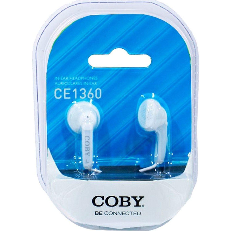 COBY Audífono Ear bud Blanco Auriculares en la oreja