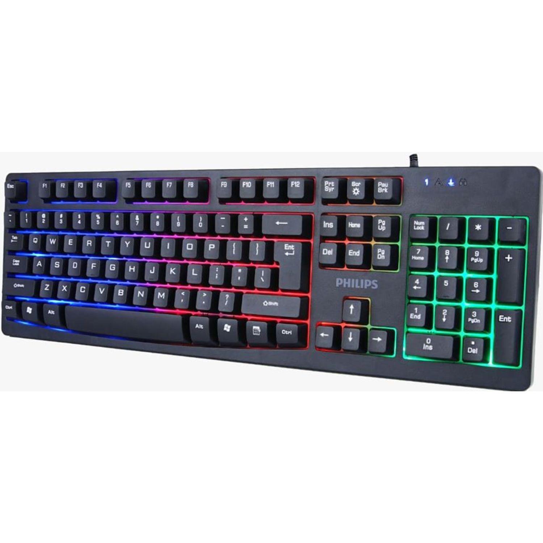 Philips Combo Teclado Gaming + Mouse Gaming Negro Combos de teclado y ratón