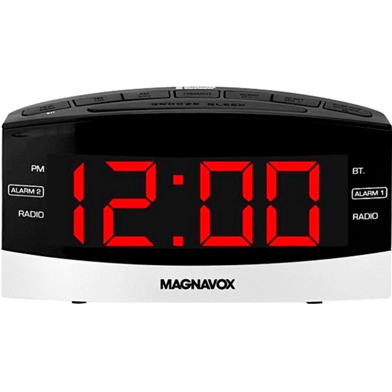 MAGNAVOX Dual Radio Reloj Digital Despertador Negro Radio reloj