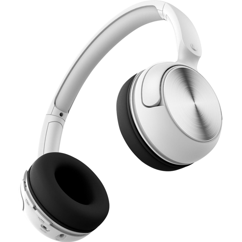 COBY Audífono Bluetooth Tipo Dj, Micrófono Blanco Auriculares en la oreja