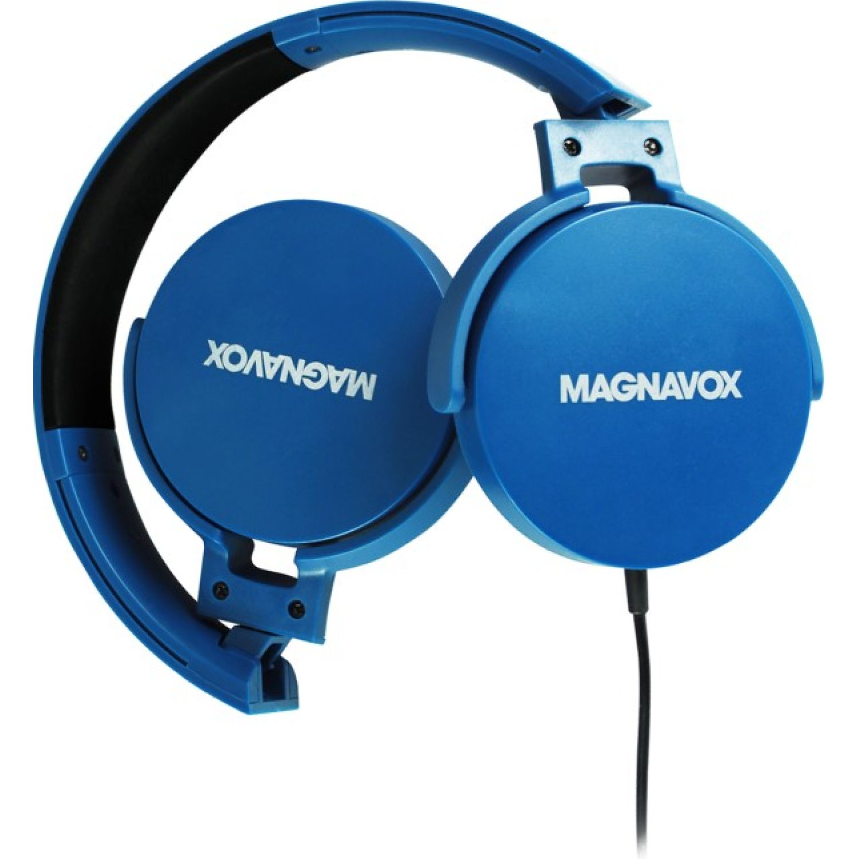 MAGNAVOX Audifono DJ Cable Azul Auriculares en la oreja