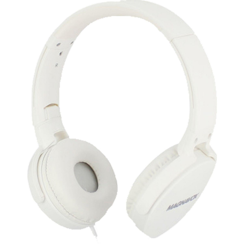 MAGNAVOX Audifono DJ Cable Blanco Auriculares en la oreja