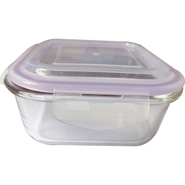 ICHIMATSU Taper Refractario Cuadrado.800 Ml Transparente Sets de almacenamiento y organización de alimentos