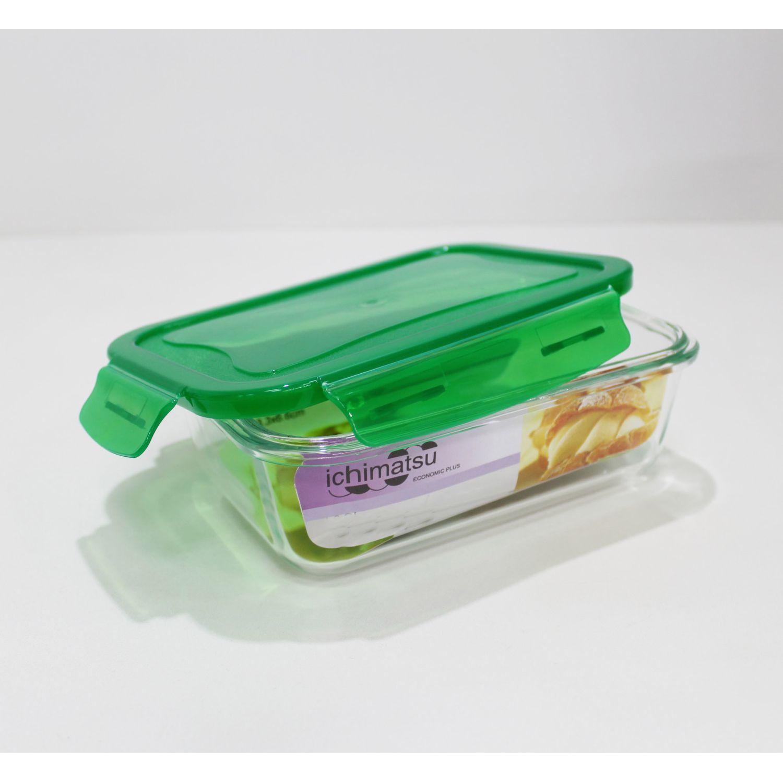 ICHIMATSU Taper Refractario Rectang.1.3 Lt Verde Verde Sets de almacenamiento y organización de alimentos
