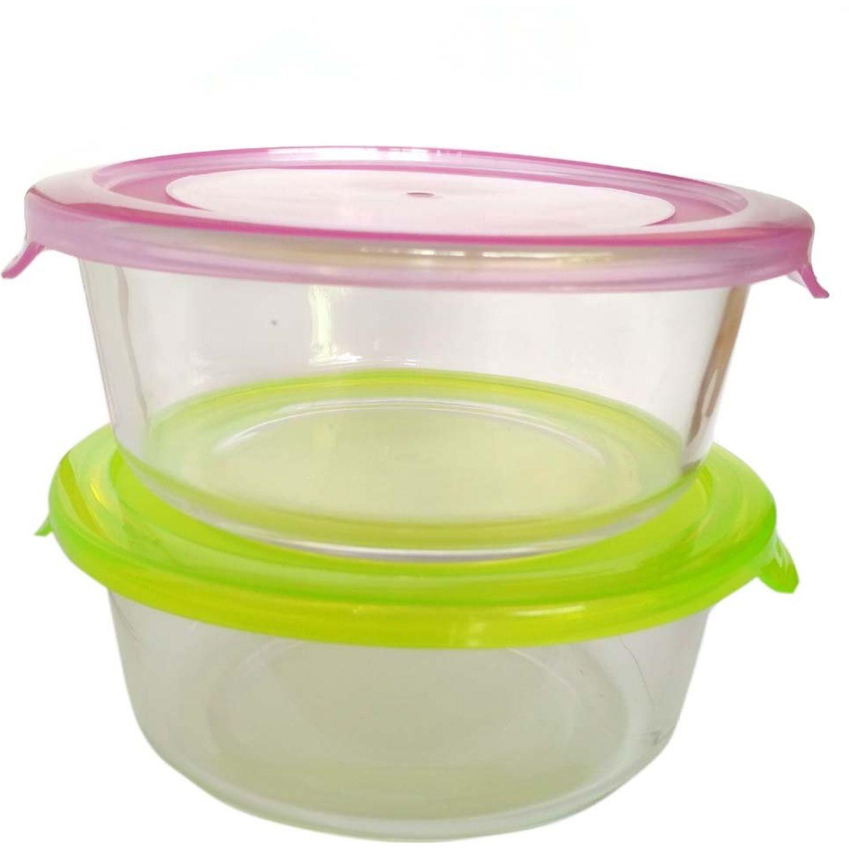 ICHIMATSU Set Taper De Vidrio C/Tapa Plast X2pzs Varios Juegos de Almacenamiento y Organización de Cocina