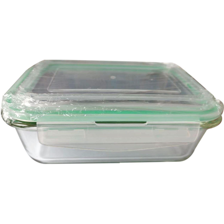 ICHIMATSU Taper Refractario Rectang.1.1 Lt Verde Sets de almacenamiento y organización de alimentos