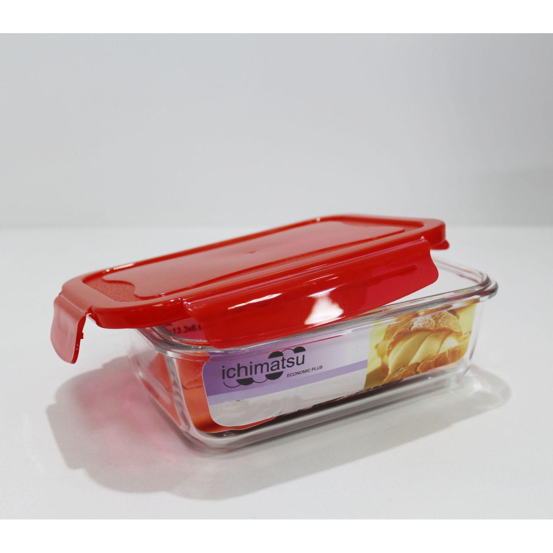 ICHIMATSU Taper Refractario Rectang.1.3 Lt Rojo Rojo Sets de Almacenamiento y Organización de Alimentos