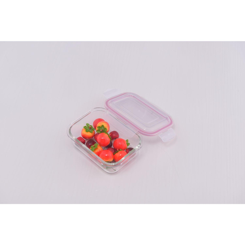 ICHIMATSU Taper Refractario Rectang. 650ml Transparente Sets de Almacenamiento y Organización de Alimentos