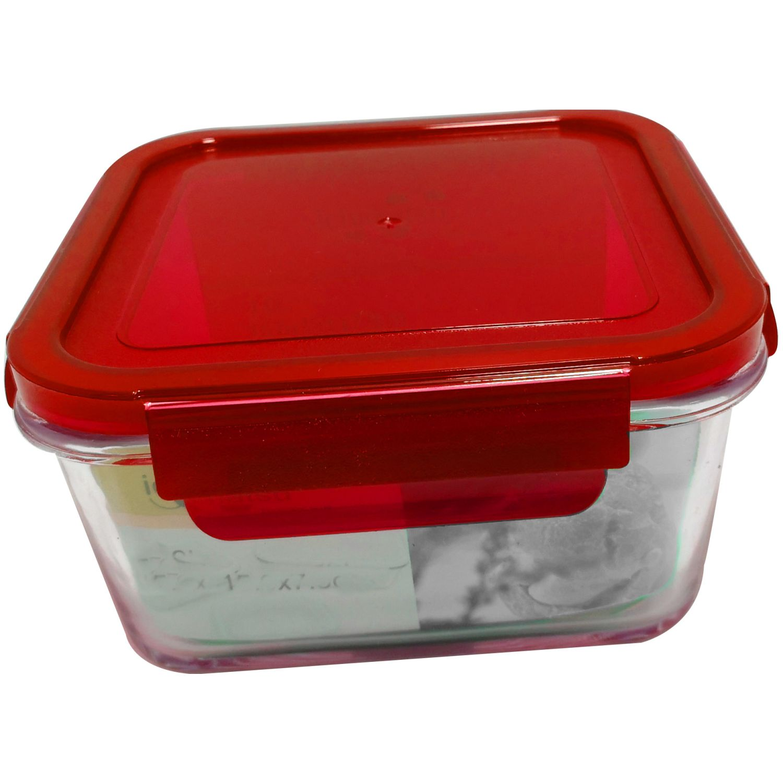 ICHIMATSU Taper Refractario Cuadrado 1 Lt Rojo Rojo Sets de almacenamiento y organización de alimentos