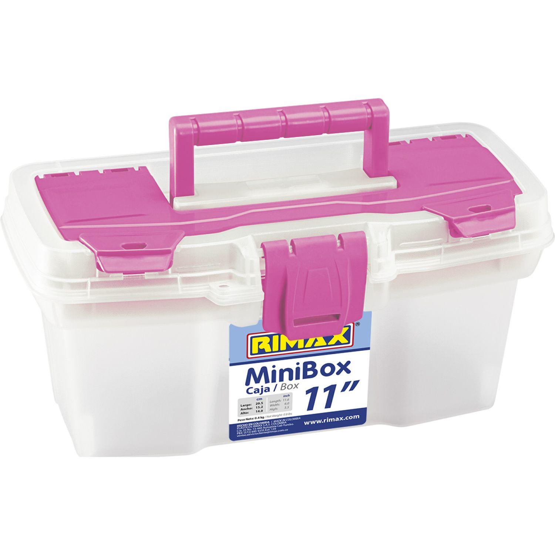 RIMAX Caja Her. 11t. Org Apilable Vanity Rosado Cajas de almacenamiento