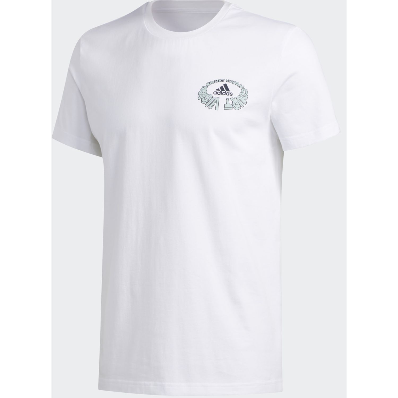 Adidas court viz tee Blanco Camisetas y Polos Deportivos