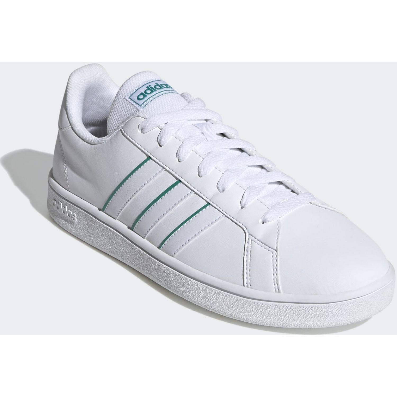 Adidas Grand Court Base Blanco / verde Para caminar