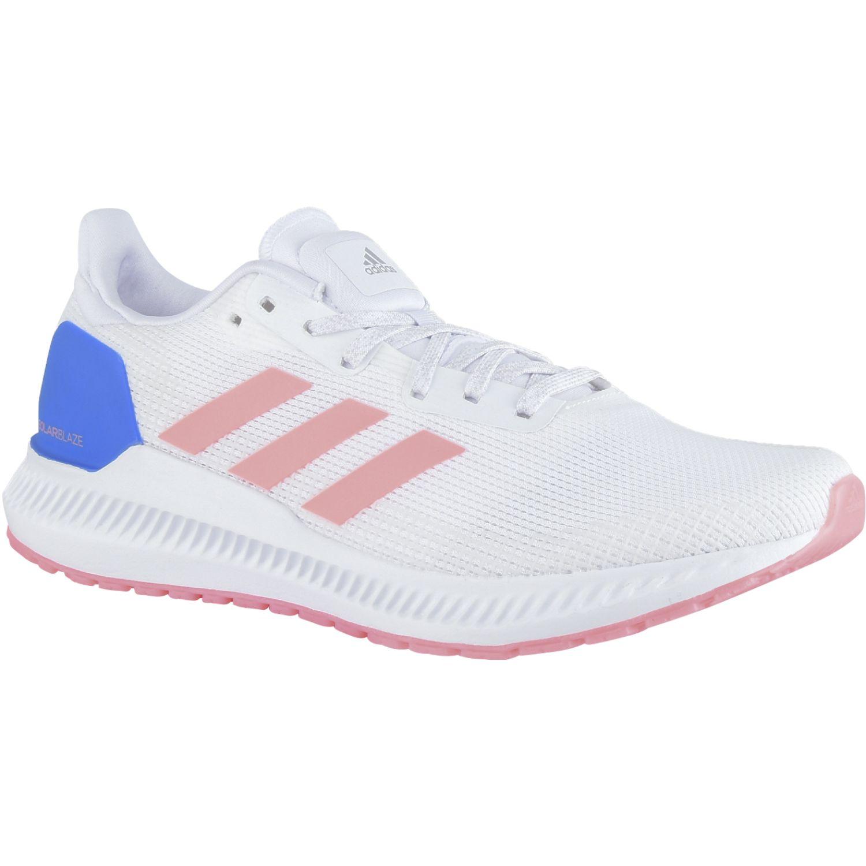 Adidas Solar Blaze W Blanco / rosado Correr por carretera