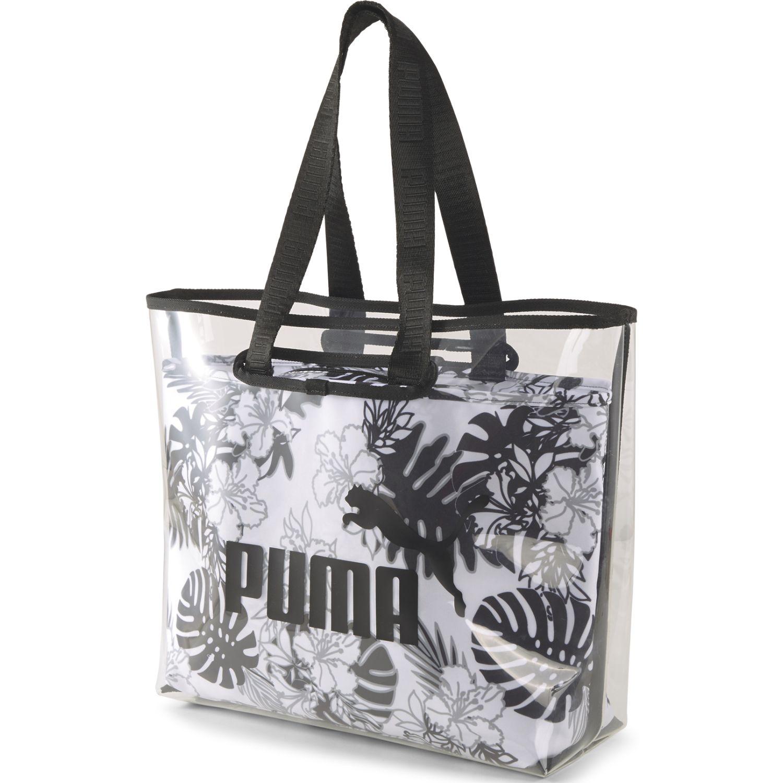 Puma WMN Core Twin Shopper Blanco / negro bolsos de lazo