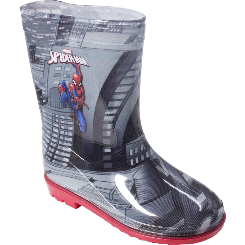 Frozen Botas Para Lluvia Spiderman Negro Botas para lluvia