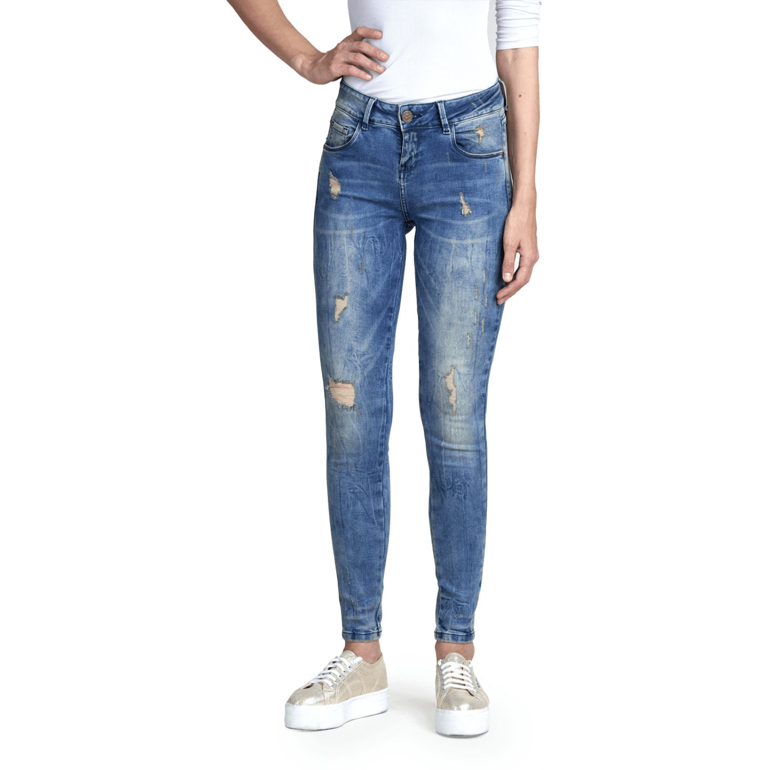 Octo Denim Co Jean High Stretch Romina Celeste Casual