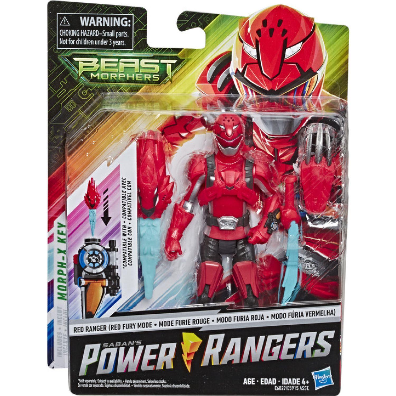 POWER RANGERS PRG 6IN BMR RED RANGER FURY MODE FIG Rojo Figuras de Acción